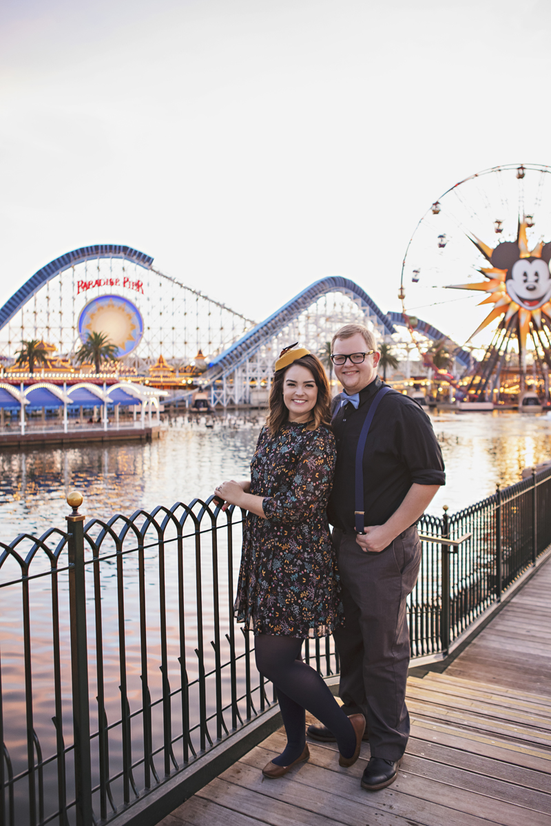 Anniversary photo session at disneyland photography by